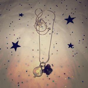 Jewelry - Charm necklace - purple butterfly